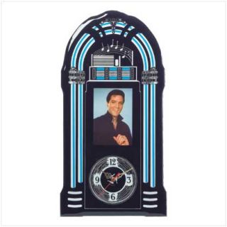 Elvis Jukebox Wall Clock 50s Diner Photo Decor New