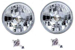 Halogen H4 Headlight Headlamp Bulbs Glass Diamond Crystal Clear 60