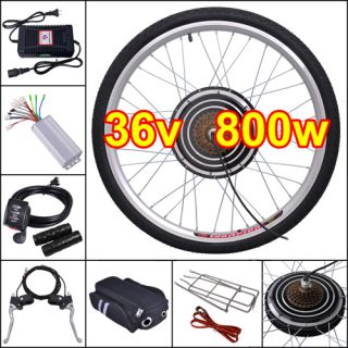 36V 800W 26 Rear Wheel Electric Bicycle Motor Kit E Bike Cycling Hub