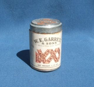 Vintage w E Garrett and Sons Scotch Snuff Can