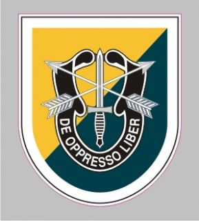 AR 2085 8th Special Forces Army Airborne Military Bumper Sticker Decal