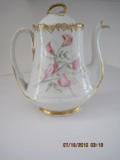 Antique Hand Painted Pitcher J P L Limoges France
