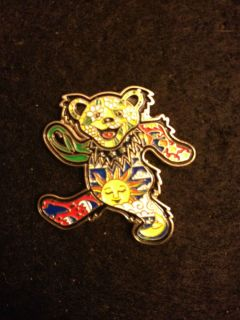 Owsley Seasons Grateful Dead Bear Pin Jerry Garcia Phish Lapel Bisco