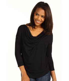 DKNY Jeans Shadow Stripe Draped Cowl Neck Top $44.99 $49.00 SALE