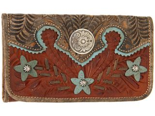 american west desert wildeflower tri fold wallet $ 89 00
