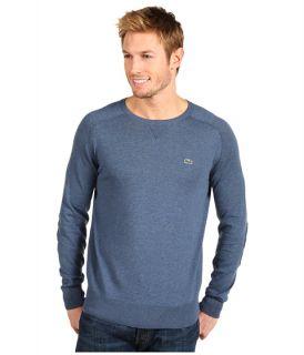 Lacoste   Cotton Cashmere Crew Neck Sweater w/ Sweatshirt Details and