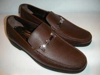 New A Testoni Mens Brown Leather Loafer Shoe Size 9 Z 65149