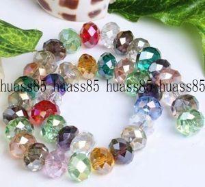 72PCS 10mm Multicolor AB Swarovski Crystal Gem Loose Beads A8