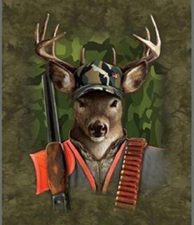 Hunting Buckley Super Soft Fleece Throw Blanket Deer Wildlife Gift