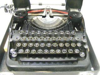 SMITH CORONA STERLING Typewriter matte black w shiny stripes IN CASE