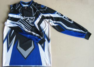 Dirt Bike Gear MX Motocross Youth Jersey Blue Size s –ATV Quad Kid