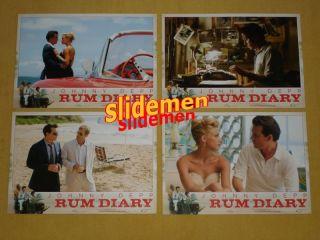 Rum Diary Lobby Cards Set Johnny Depp Amber Heard Aaron Eckhart