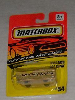1994 MATCHBOX ABRAMS M1 TANK #54 diecast MOC oss