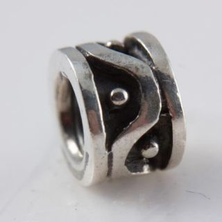 NEW** Authentic Pandora Silver Wavy Dots Bead *RETIRED* 79257