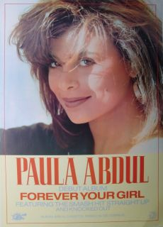 PAULA ABDUL FOREVER YOUR GIRL NEW ZEALAND PROMO POSTER   80s Pop