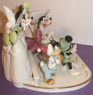 Lenox Disney Mickey Mouse Friends Present A Day in Never Land Limited