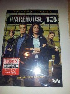 Warehouse 13 Season 3 DVD 2012 3 Disc Set Box Set Brand New SEALED