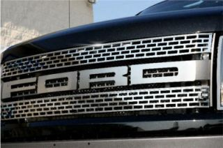 Ford F 150 Raptor 2010 12 Stainless Steel Grilles Upper Front Polished