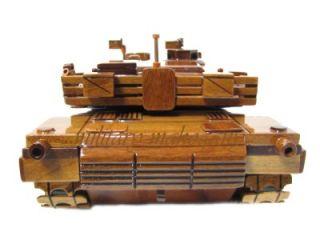 M1 MIA1 MIA2 Abrams Army USMC Marine Tank Mahogany Wood Wooden Display