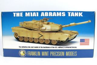 Franklin Mint M1 A1 Abrams Tank 1 24 Scale Die Cast Model