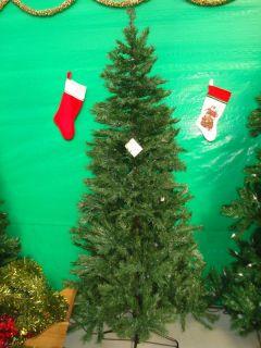 Artificial Pre Lit Christmas Tree 7 Slim Line Noble
