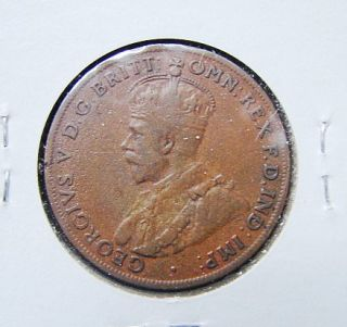 Australia 1920 One Penny Bronze Coin King Georgivs V
