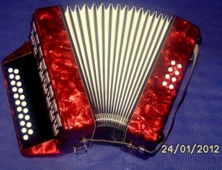 in Germany Weltmeister Diatonic Accordion Accordian Case Straps