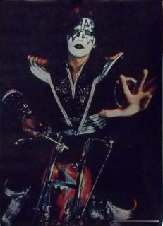 Ace Frehley 20x28 Chopper Motorcycle Poster 1977 Kiss
