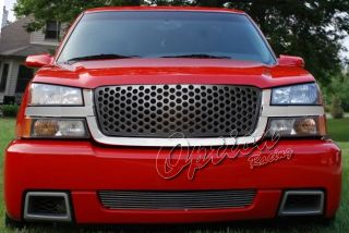 03 06 Chevy Avalanche Chrome Black Front Grille Replacement Grill Kit