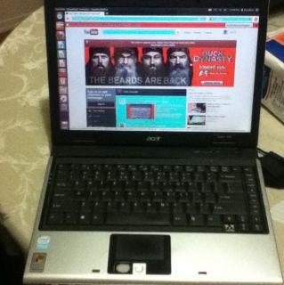 Acer Aspire 3620 Intel Laptop Celeron M Computer Notebook Ubunto OS 12