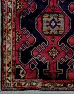 ANTIQUE PERSIAN SARAB HAND KNOTTED WOOL RUNNER AREA RUG WITH ABRASH