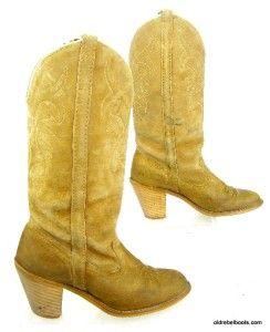 Sassy Divalicious Vtg USA Made Acme Dingo Suede Cowboy Boots 3  Heels