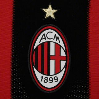 AC Milan Adidas Soccer Home Long Sleeve Replica Jersey