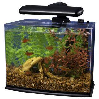 Tetra Crescent Acrylic Aquarium Seamless 16 LED Light Kit Set Desk