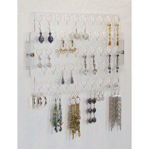 Earring Holder Rack Hanging Jewelry Organizer Display Closet Storage