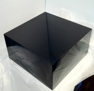 Lucite Acrylic Riser Cube Glossy Black Store Display Lot of 2 NEW