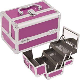 Makeup Accessories Cosmetic Organizer Aluminum Case w Mirror M01
