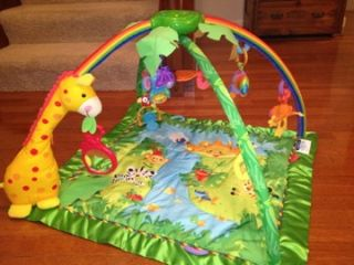 Fisher Price Rainforest Baby Activity Play Mat Melodies Lights Deluxe