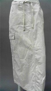 Bill Blass Jeans Ladies Womens L Casual Cargo Long Skirt Khaki Solid