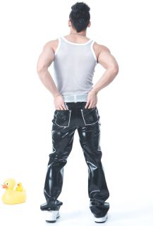 Squeeze Dog Latex Gummi Rubber Casual Active Pants Black