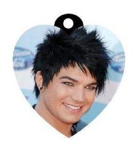 adam lambert photo charm necklace american idol star