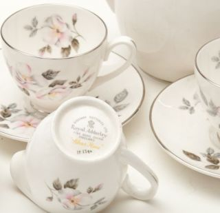 Royal Adderley Bone China Coffee Set for 6