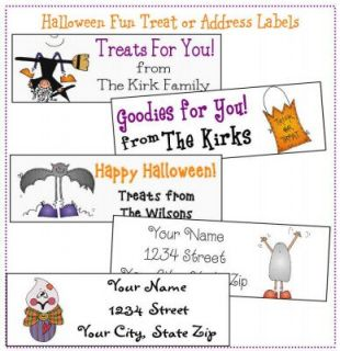 Personalized Halloween Treat Stickers or Address Labels
