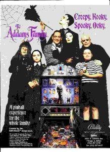 addams family pinball flyer 1991 near mint shape