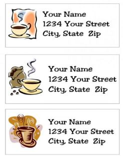 personalized coffee cup return address labels