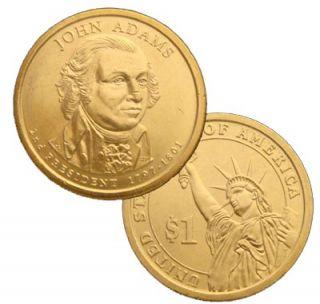 2007 P+D John Adams B.U. Presidential Dollar.