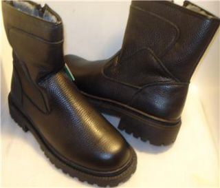 Pepper Gate Mens Boots Black Fur Lining US Sz 9