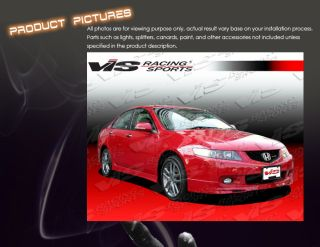 Acura TSX 04 05 4DR Type R Front Lip Bodykit Vis