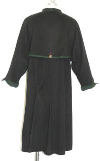 Admont Women Black Boiled Wool Gorsuch Overcoat Coat XL