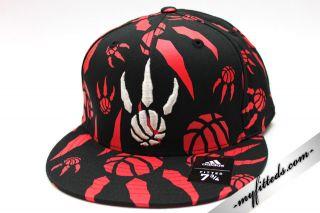 Adidas Toronto Raptors NBA Fitted Cap Black New